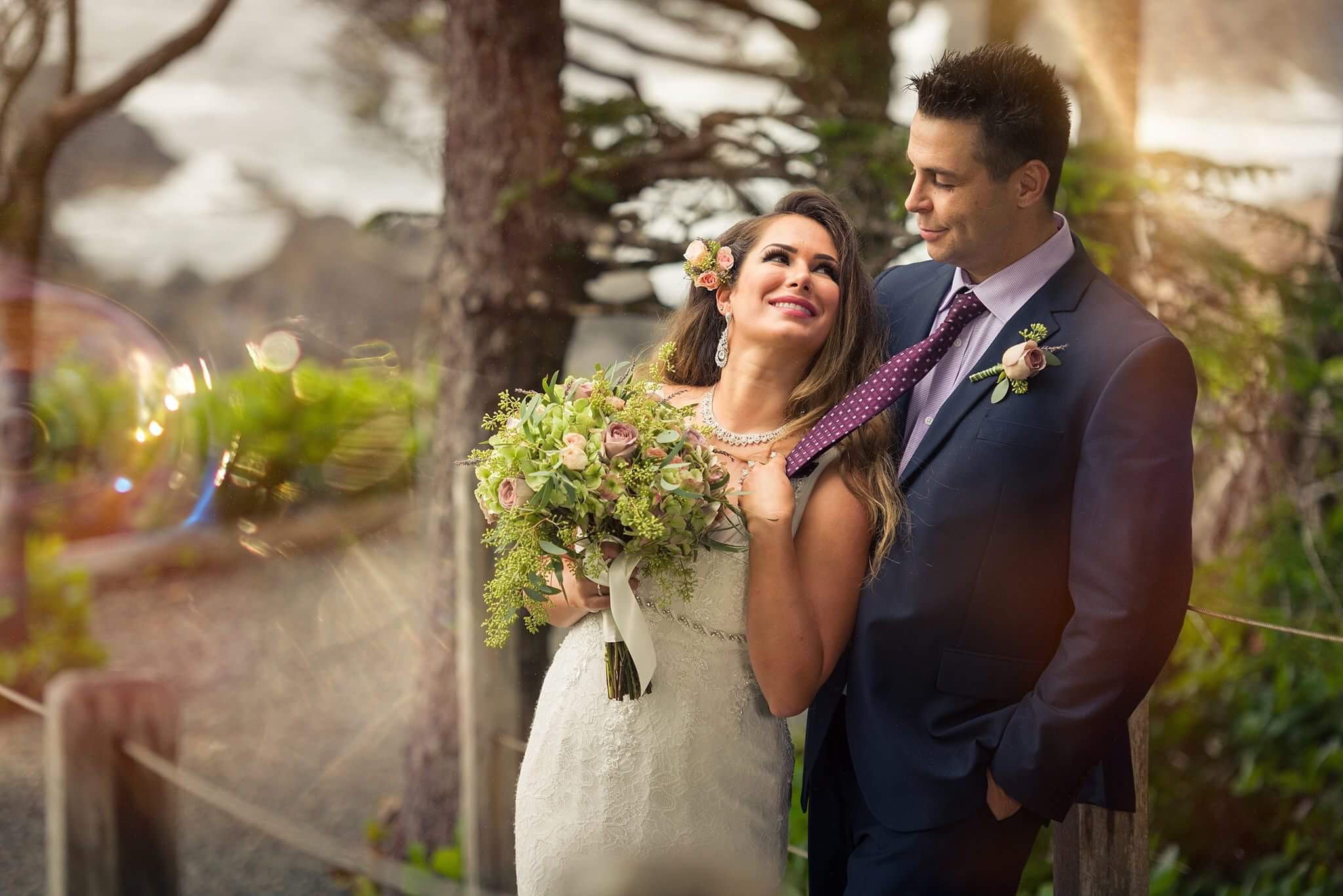 Dunja and Paul Wed at Sophisticated Black Rock West Coast Weddings Magazine