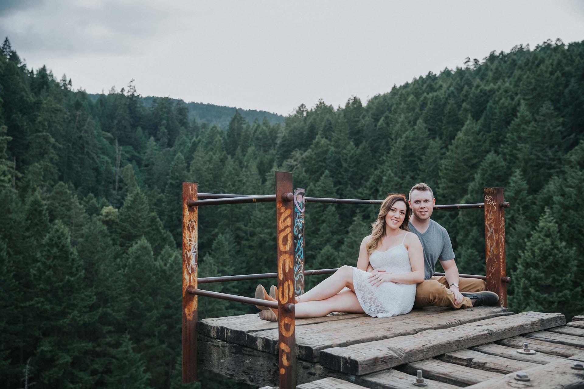 Goldstream Trest;e Engagement West Coast Weddings Magazine