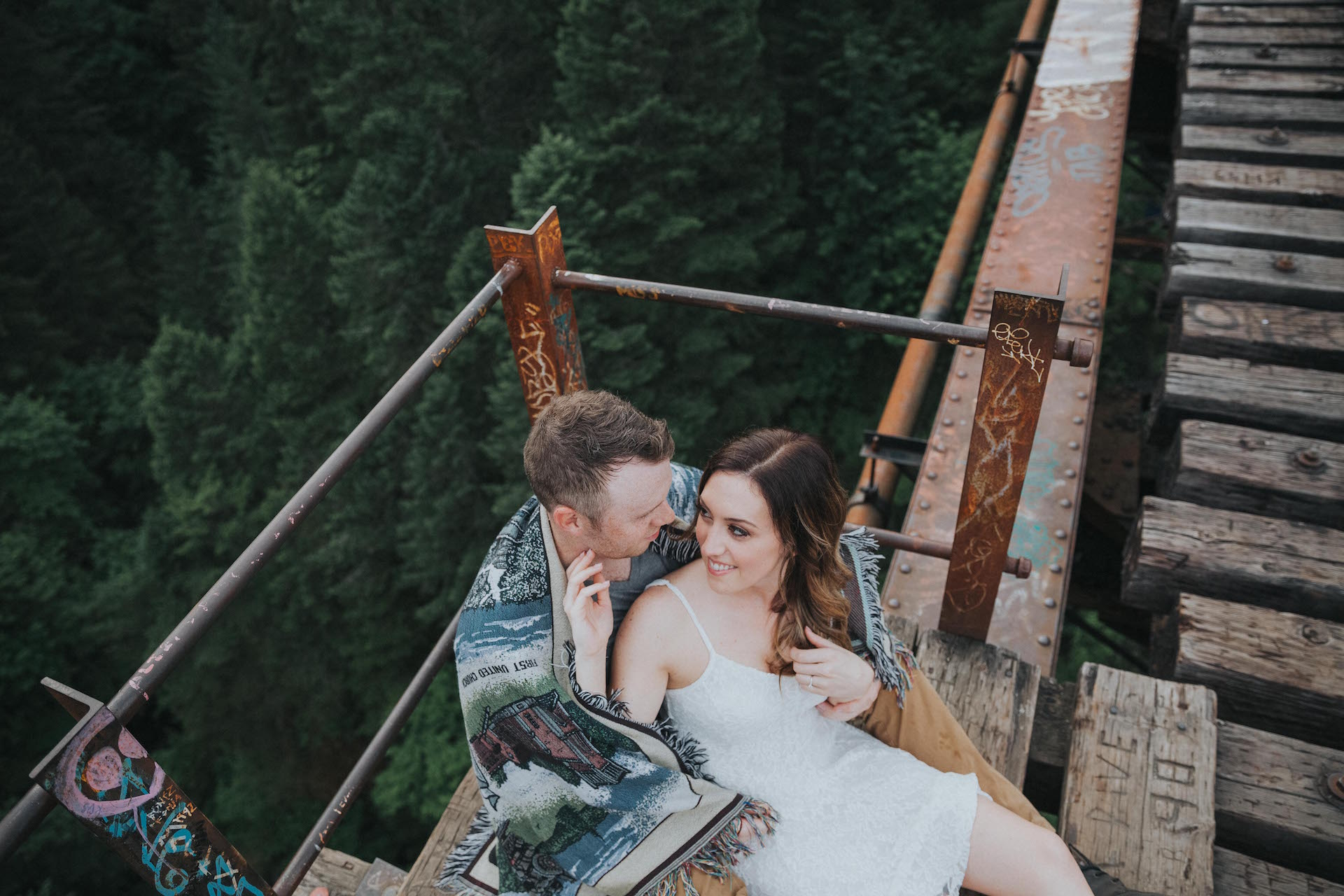 Goldstream Trestle Engagement Vancouver Island West Coast Weddings Magazine