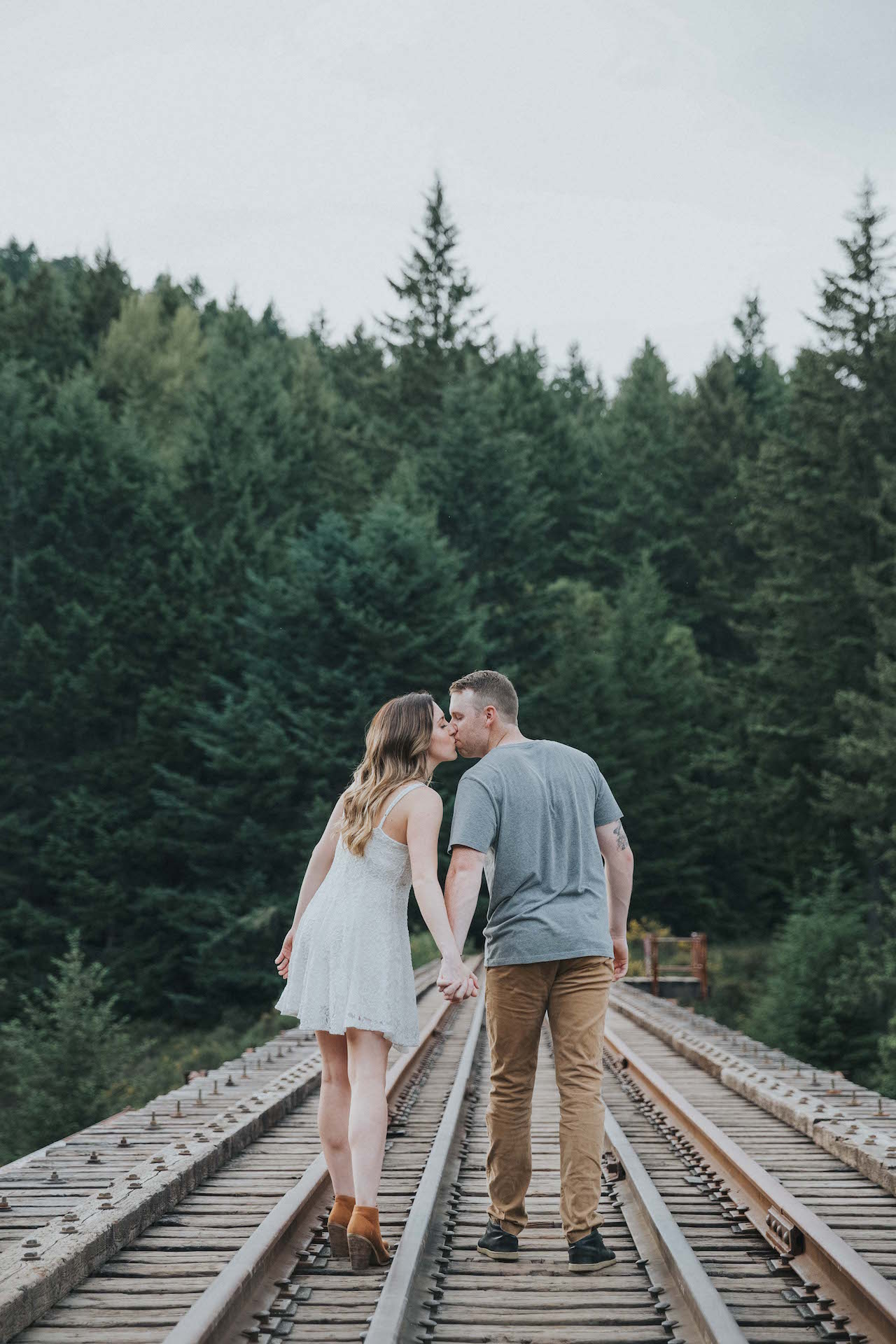 Goldstream Trestle Engagement Vancouver Island West Coast Wedding Magazine