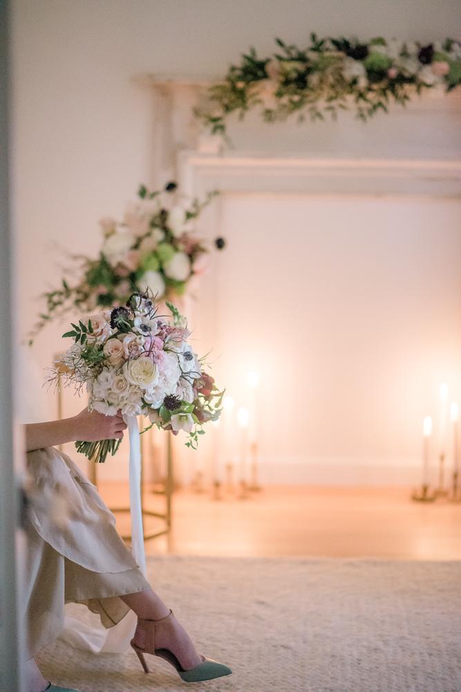 Bride in FirelightColours of the Wind Erin Wallis Photography West Coast Weddings Magazine
