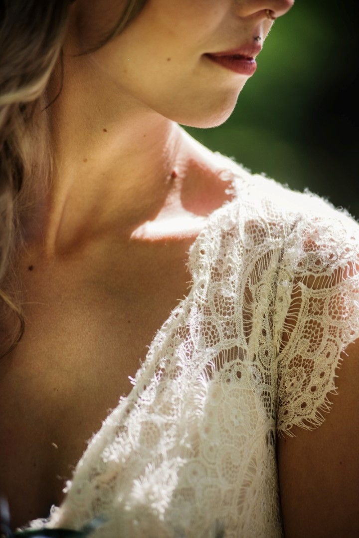 Boho Lace Bridal Gown Love in the Summer Bridesmaids by Funkytown Photography West Coast Weddings