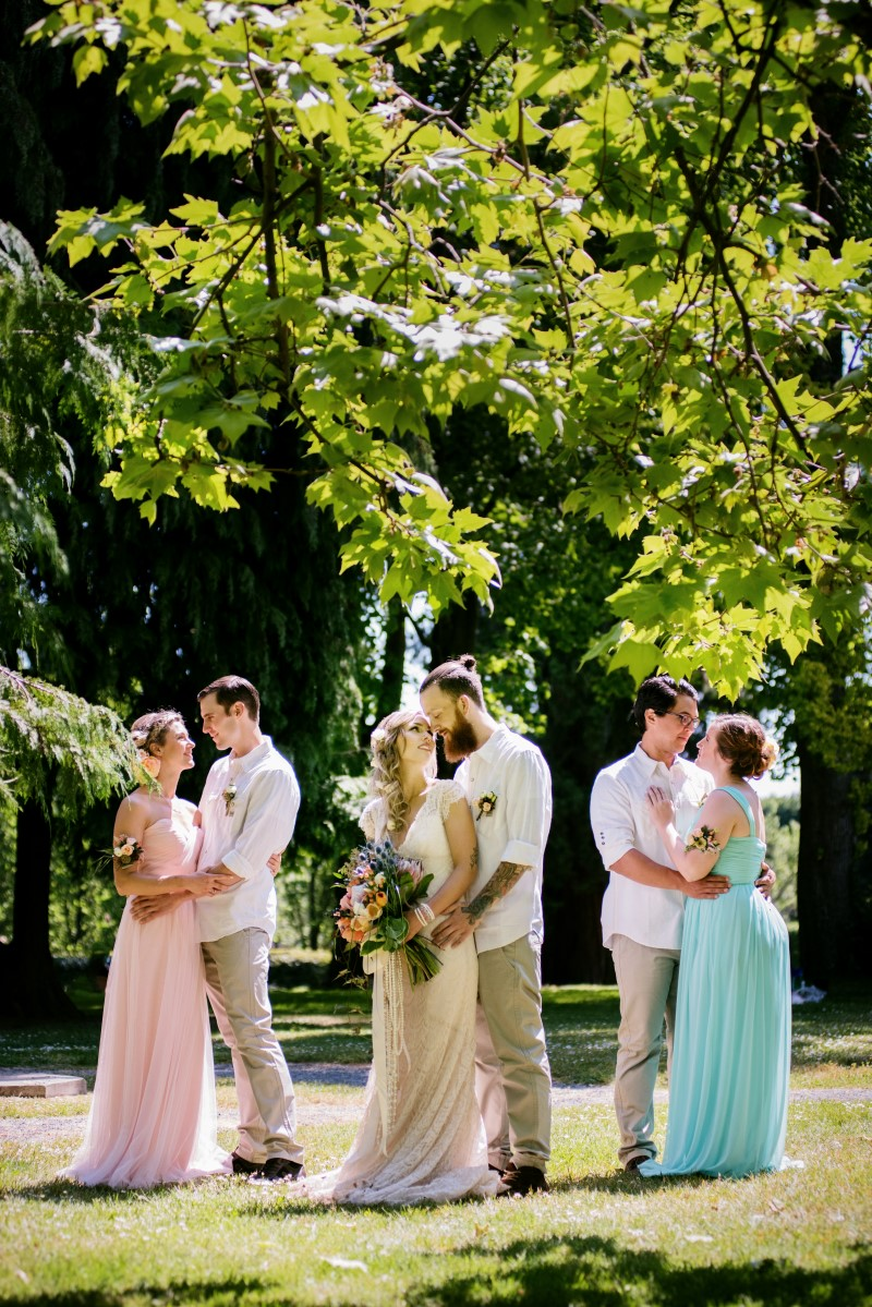 Love in the Summer Boho Wedding Party St Anns Academy Funkytown Photography