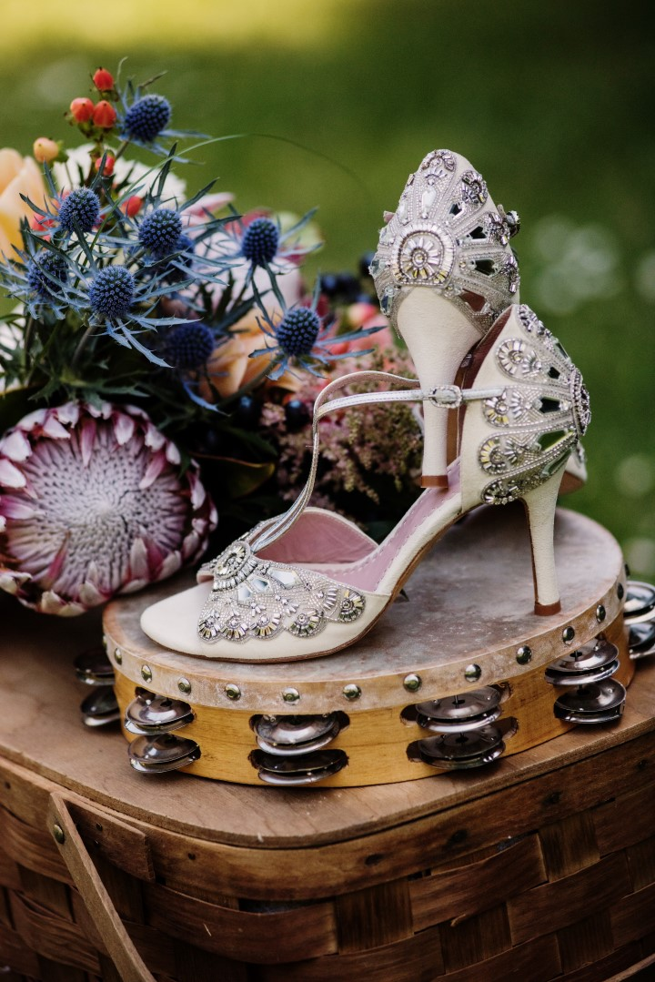 Emmy Shoes Love in the Summer Bridesmaids by Funkytown Photography West Coast Weddings