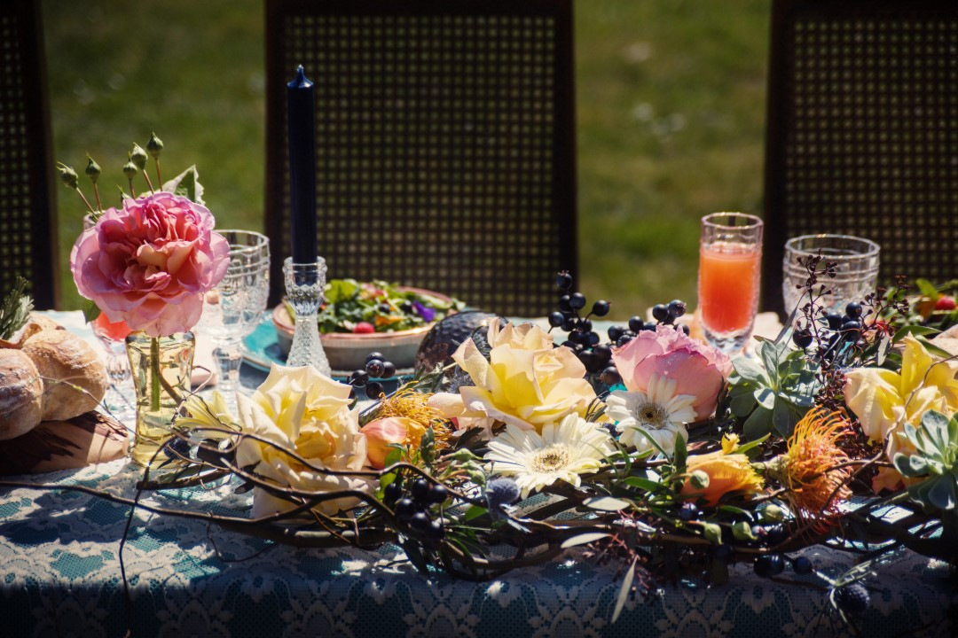 Toque Catering Head Table in Field Love in the Summer Bridesmaids by Funkytown Photography West Coast Weddings