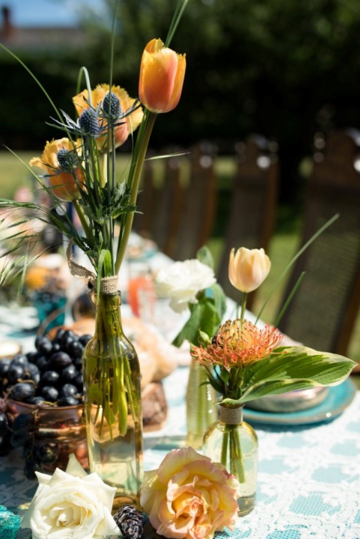 Tuscany Head Table in Field Love in the Summer Bridesmaids by Funkytown Photography West Coast Weddings