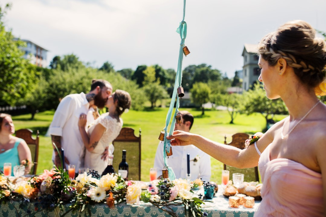 Kissing Bells Field Reception Table Love in the Summer Bridesmaids by Funkytown Photography West Coast Weddings