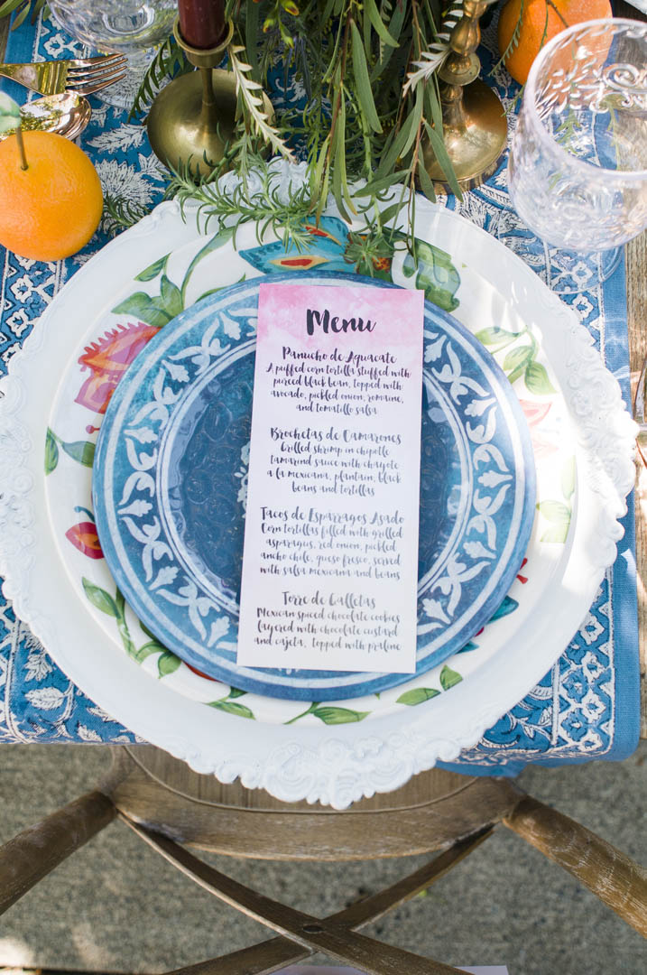 Layered Plates Make Fiesta Wedding Table Great on Vancouver Island