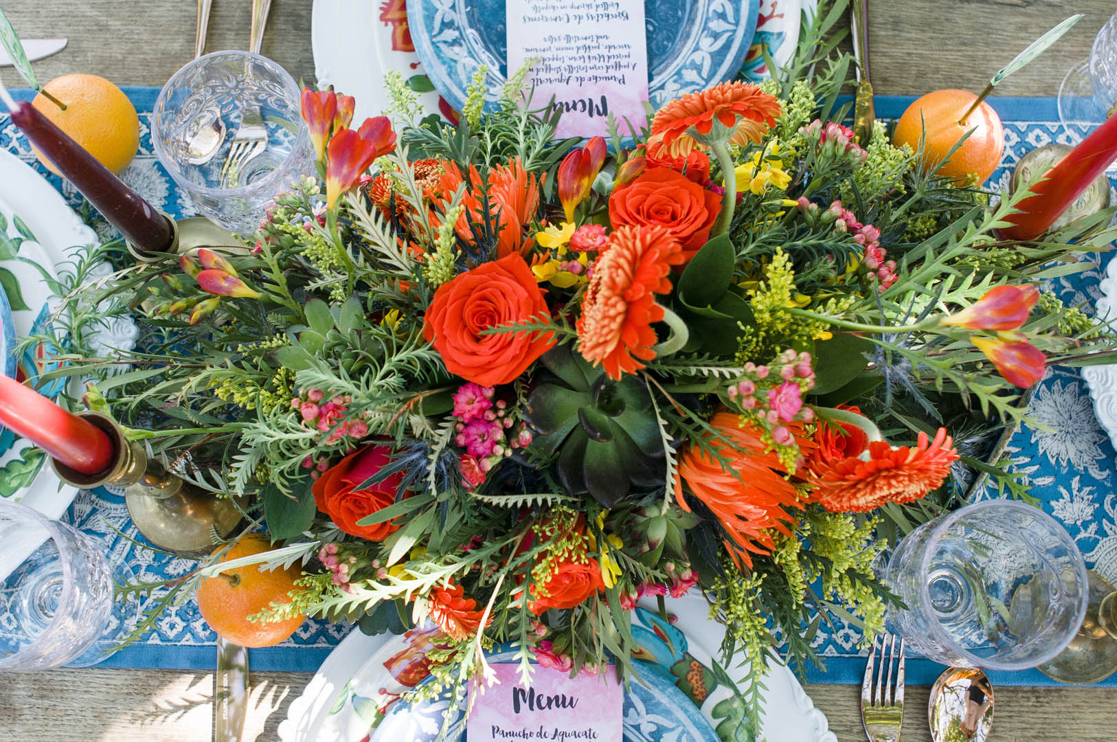 Floral Design for Fiesta Wedding Vancouver Island