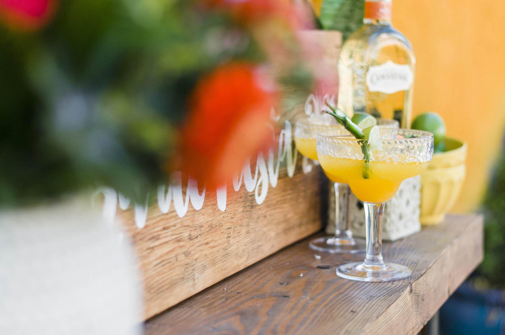 Drink Bar at Fiesta Wedding Vancouver Island