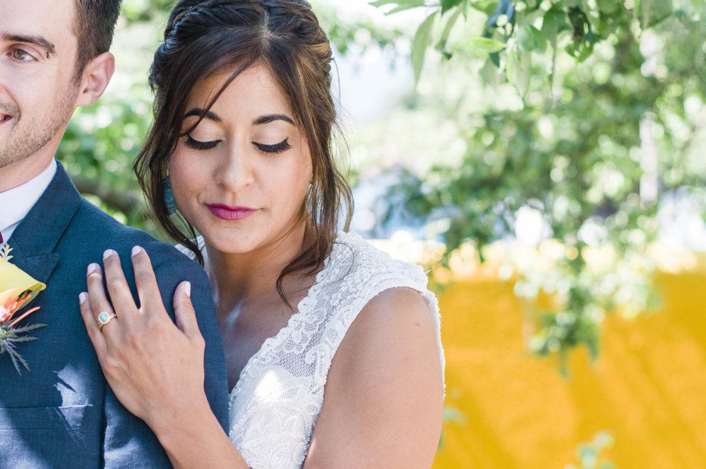Pretty bride of fiesta wedding vancouver island