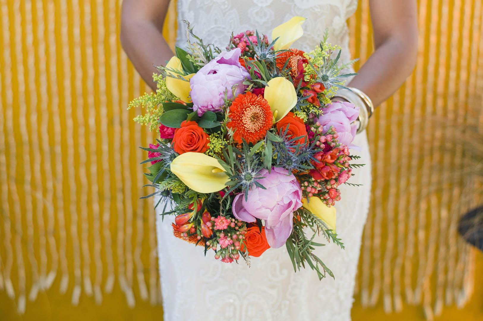 Fiesta Wedding Bridal Bouquet Vancouver Island