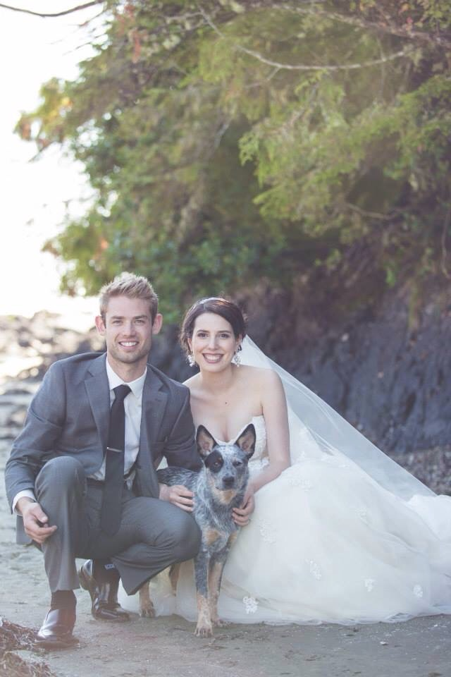 Beach Wedding and Dog BC Wedding Magazine