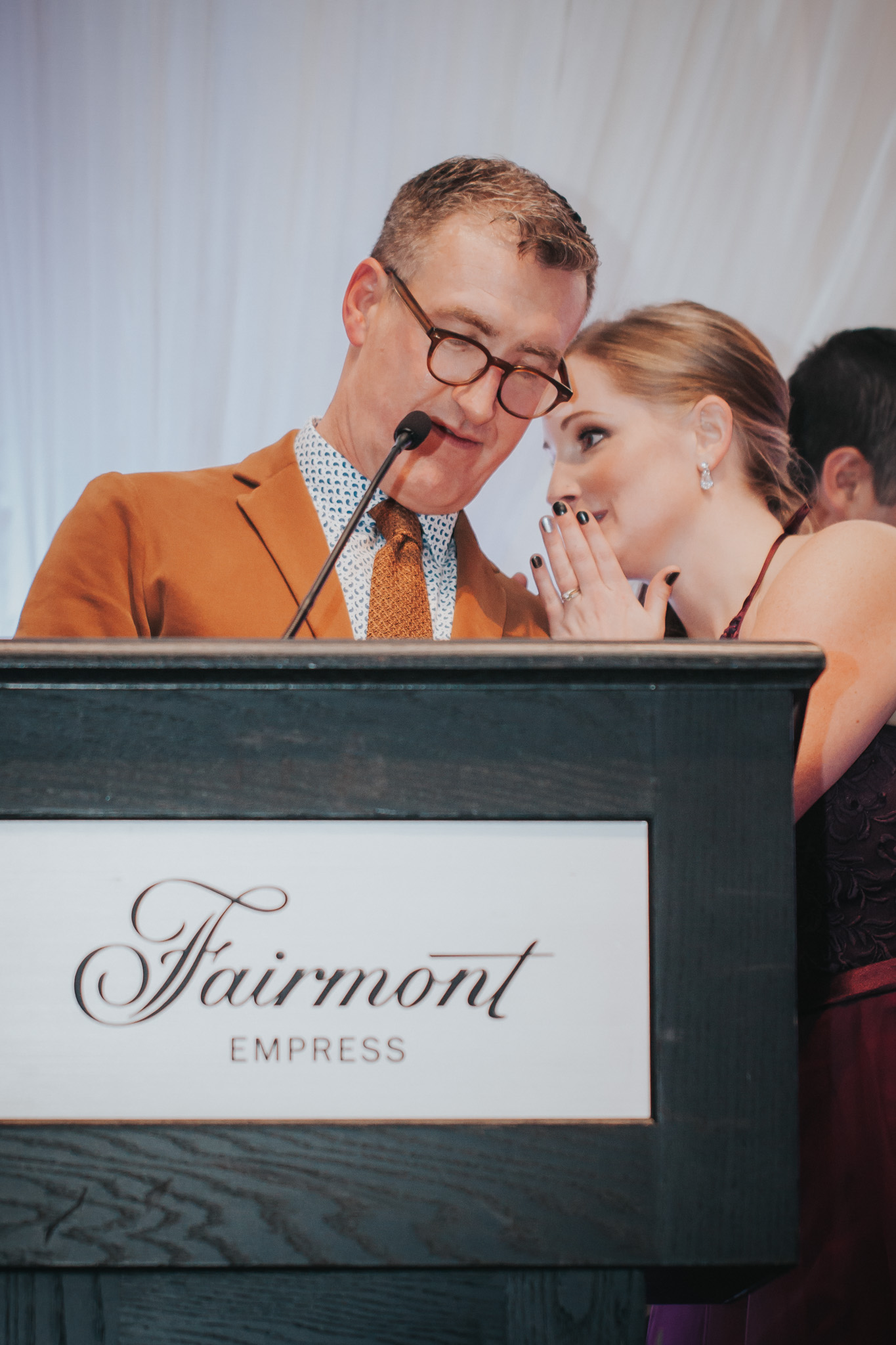 Dale, of Outlooks for Men, presents at the 2016 Vancouver Island Wedding Awards