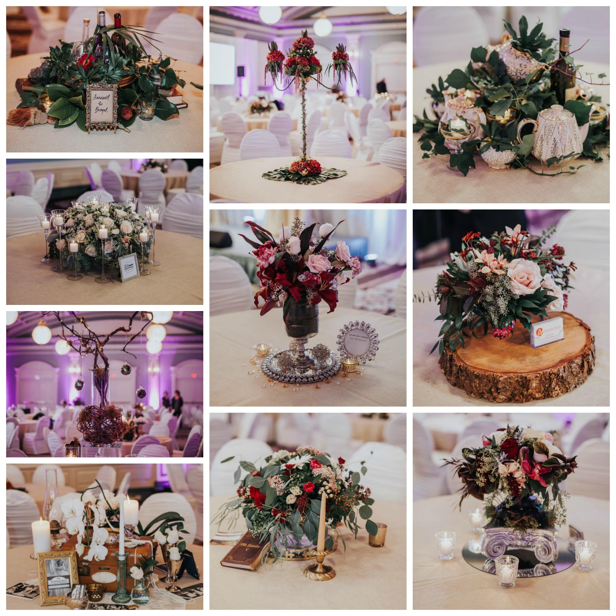 Vancouver Island Wedding Awards 2016 at Fairmont Empress Floral Decor
