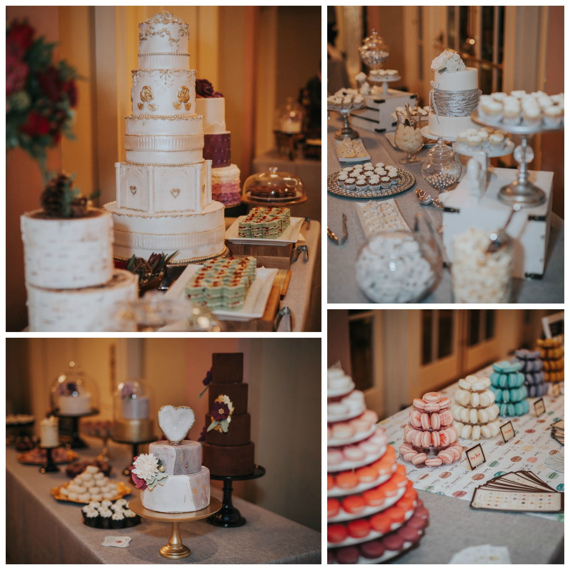 Cake and Desserts at Vancouver Island Wedding Awards Fairmont Empress