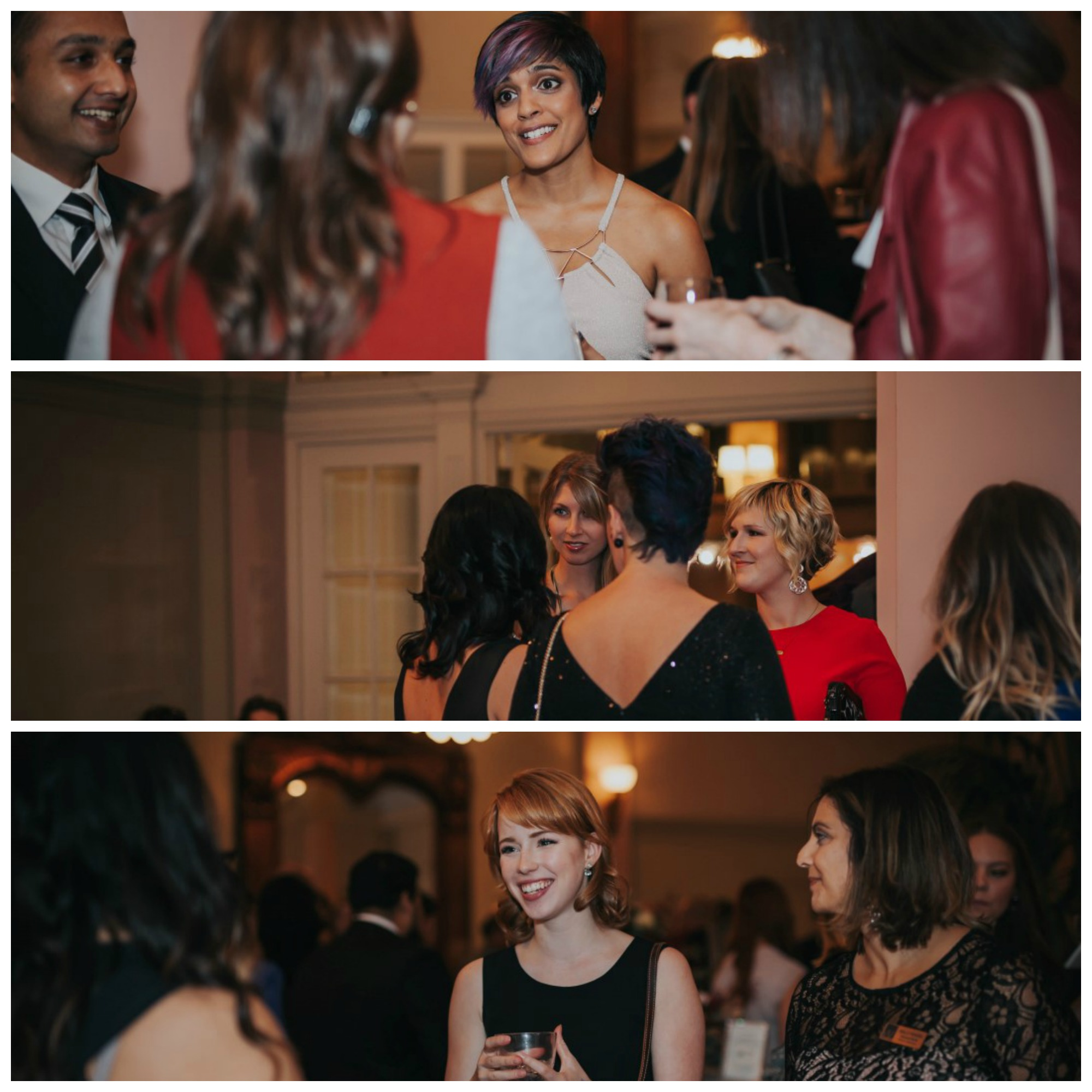 Vancouver Island Wedding Awards guests mingling at the Fairmont Empress