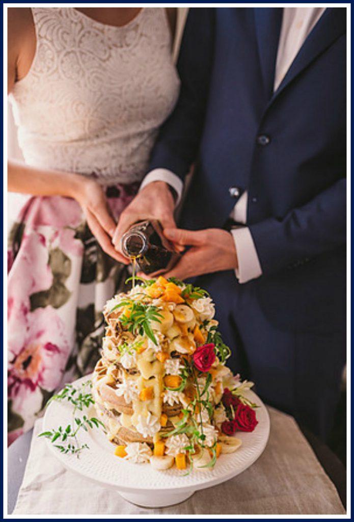 Toque Catering Waffle Wedding Cake Vancouver Island Magazine