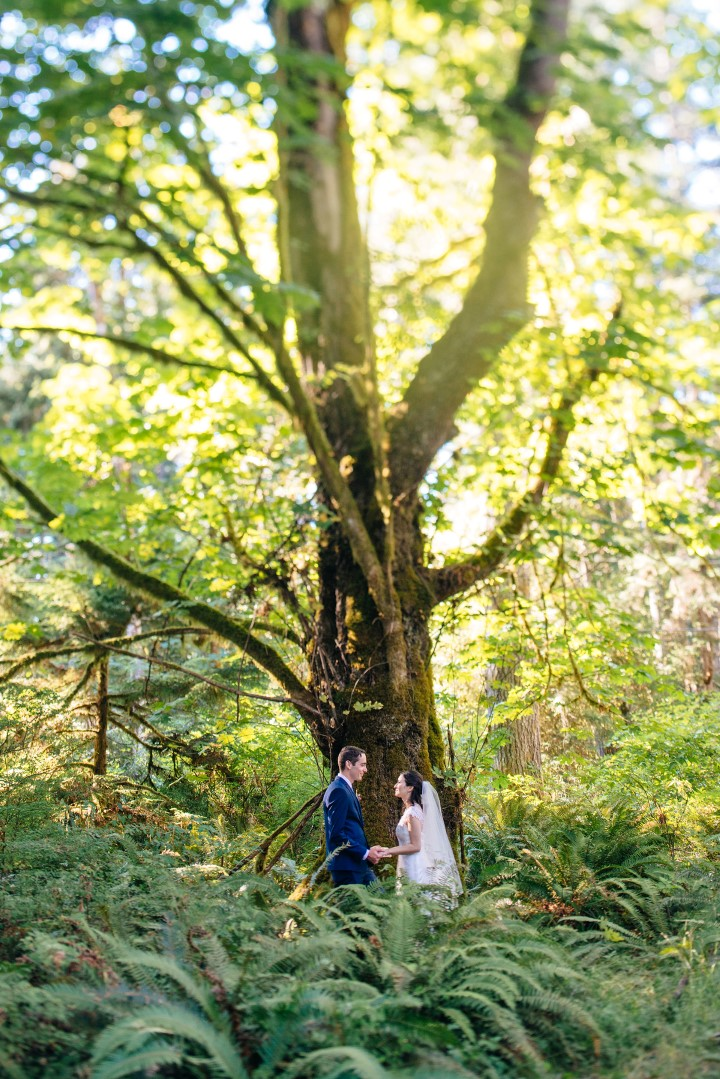 Cover Newlyweds in Forest Vancouver Island Wedding Magazine