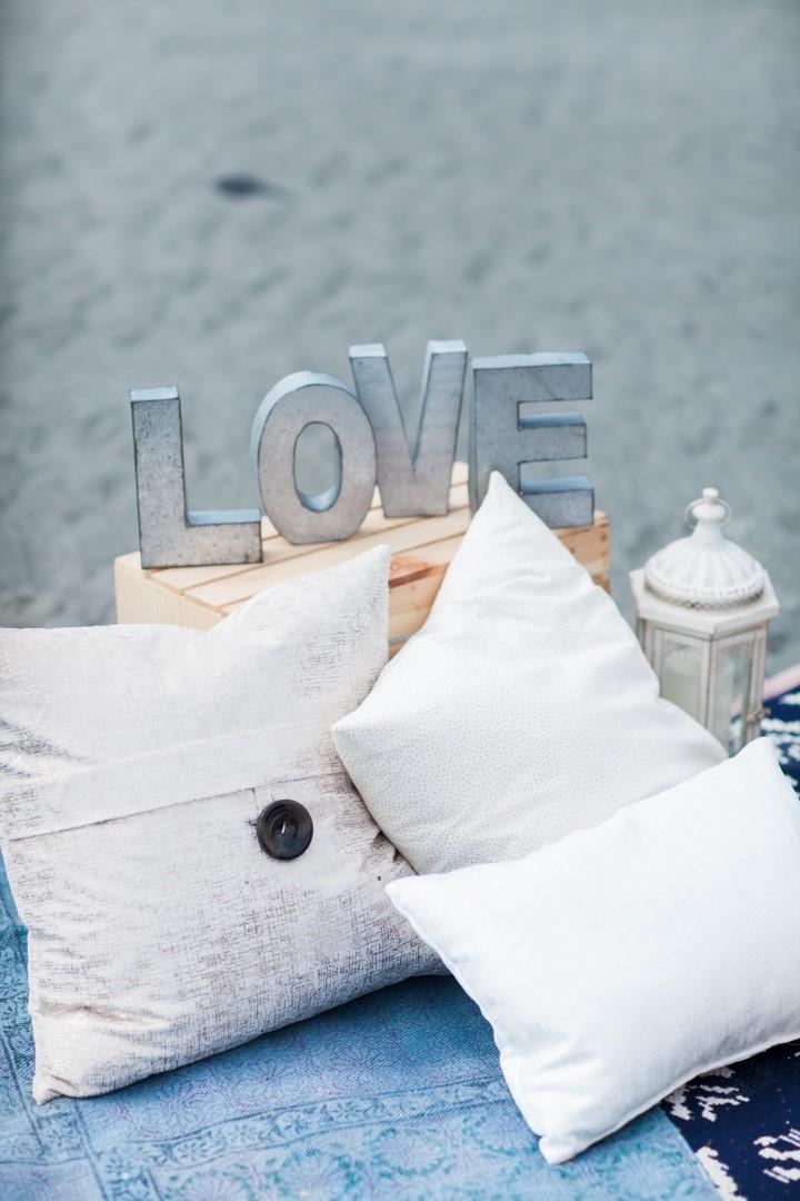 Pillow on Beach Decor Nautical Love