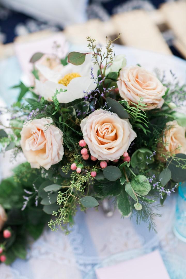 Floral Bouquet on Beach Nautical Love Vancouver Island Wedding Magazine