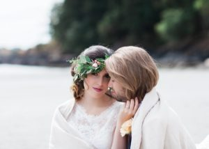 Beach couple Nautical Love West Coast Weddings