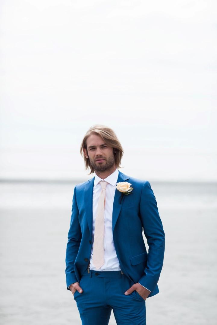 Gorgeous Groom on Beach Nautical Love West Coast Weddings