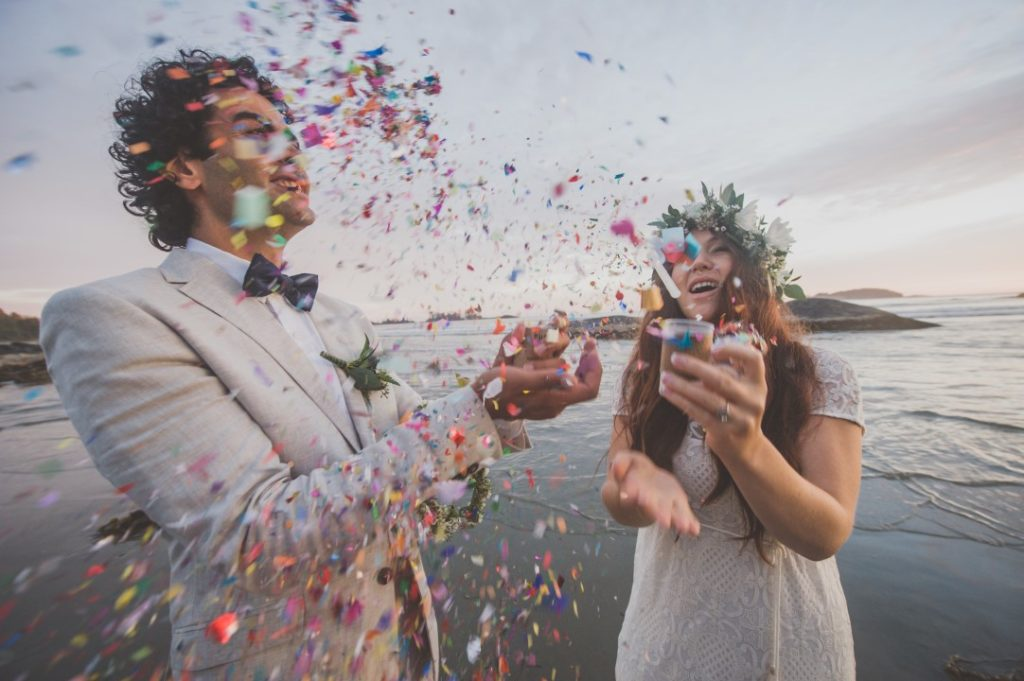 Champagne and Confetti on the Beach West Coast Elope Vancouver Island Wedding Magazine