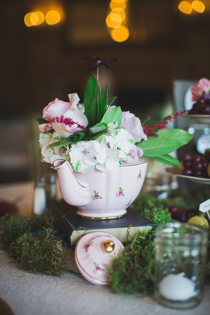 Teapot with Flowers Hatley Castle West Coast Weddings Magazine