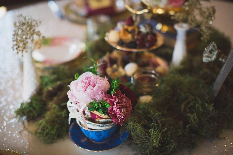 FloralHatley Castle West Coast Weddings Magazine Decor at Reception