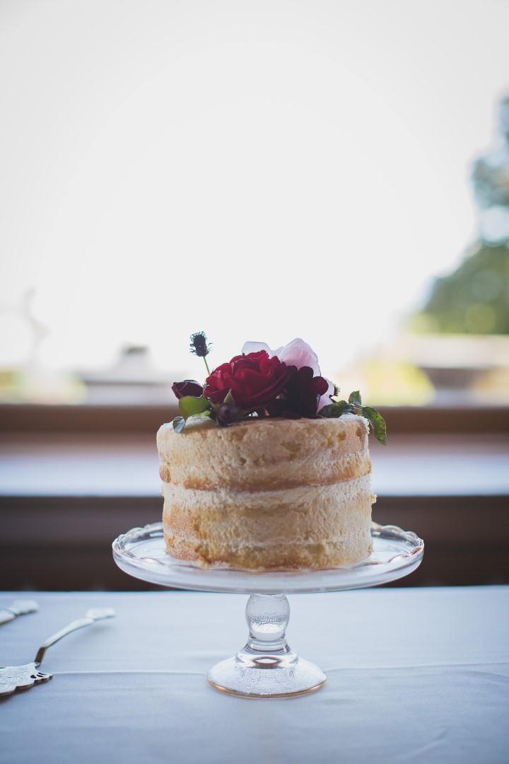 Cake in Window Hatley Castle West Coast Weddings Magazine