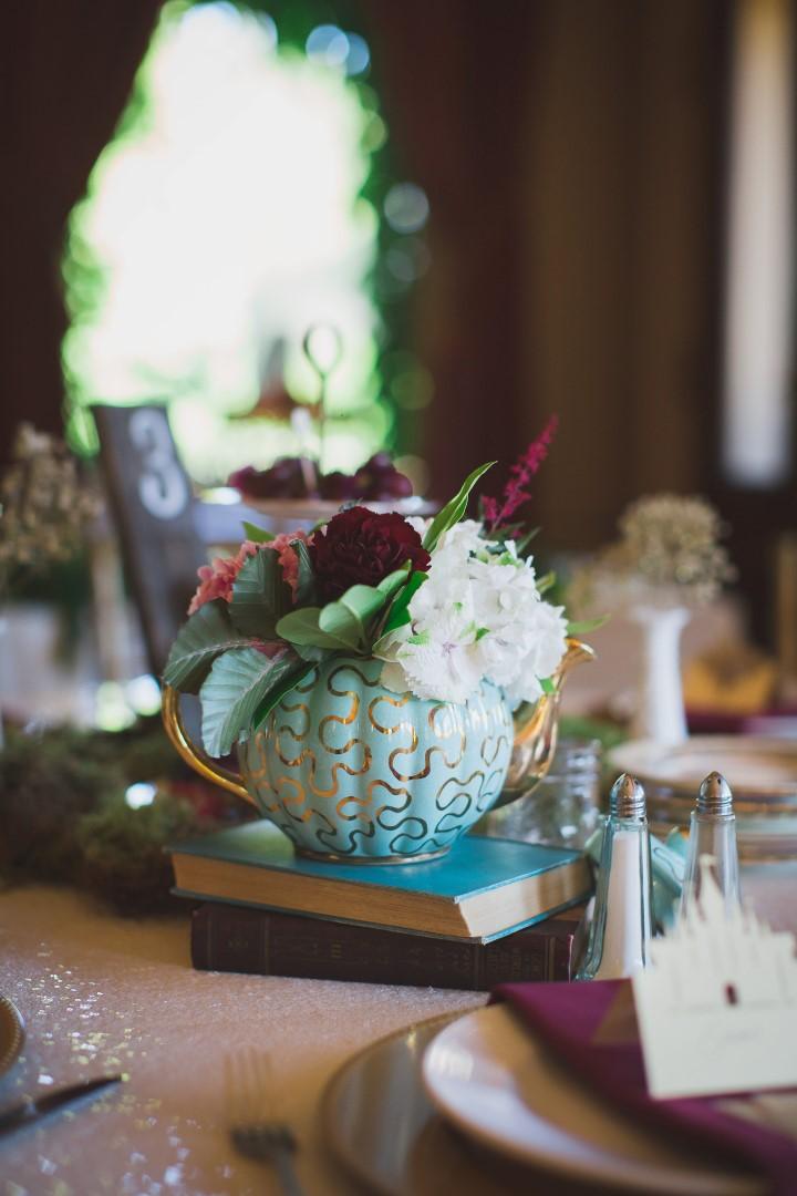 Reception Decor Alice in Wonderland Hatley Castle West Coast Weddings Magazine
