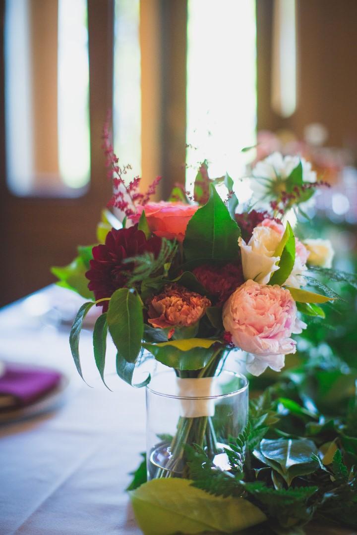 Floral Design Reception Alice in WonderlandHatley Castle West Coast Weddings Magazine