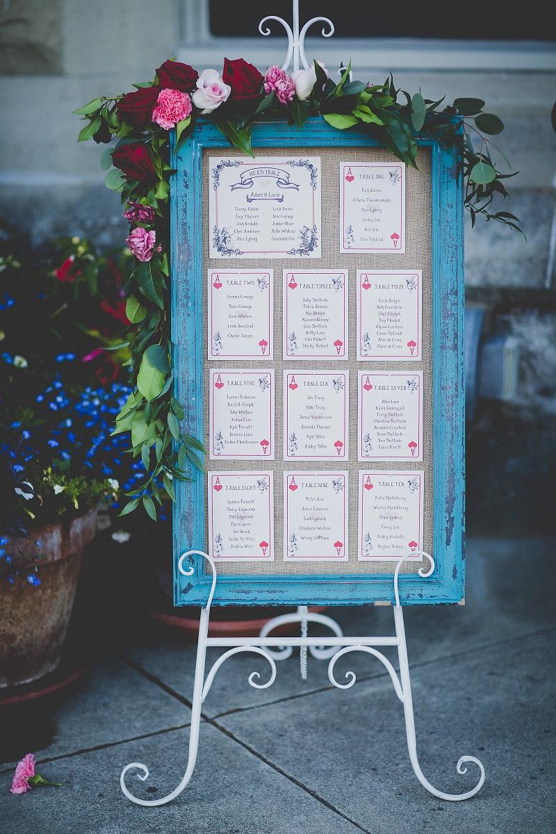 Table Seating Chart Mad Tea PartyHatley Castle West Coast Weddings Magazine