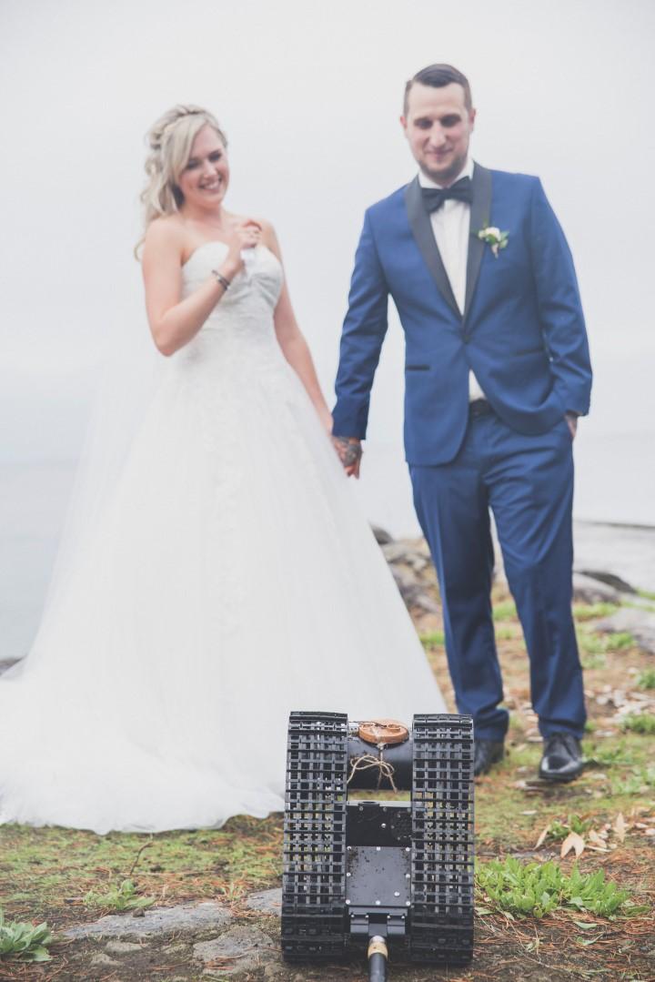 Robot Brings Rings Ocean View West Coast Weddings Magazine