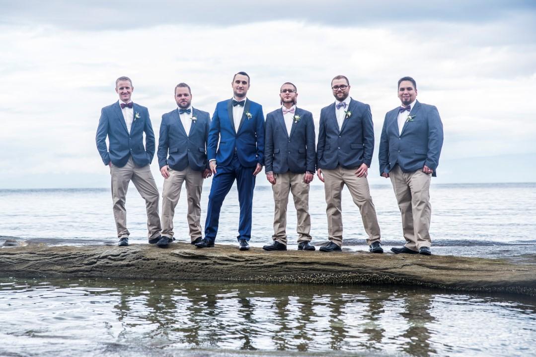 Groomsman on Water Ocean View West Coast Weddings Magazine
