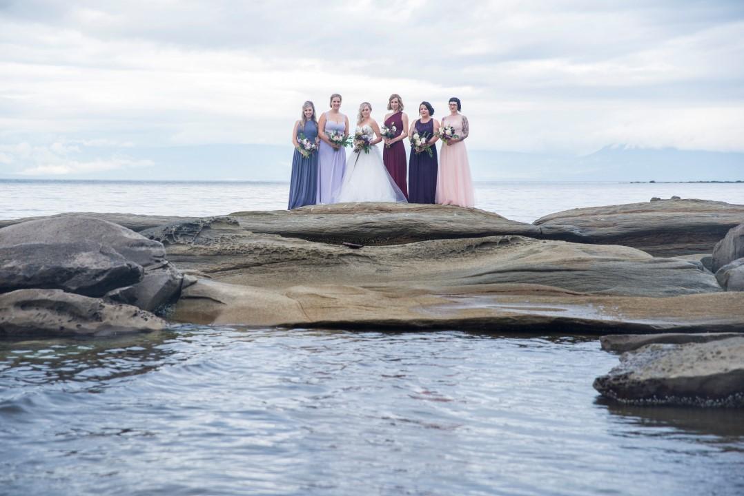 Wedding Party by Water Ocean View West Coast Weddings Magazine