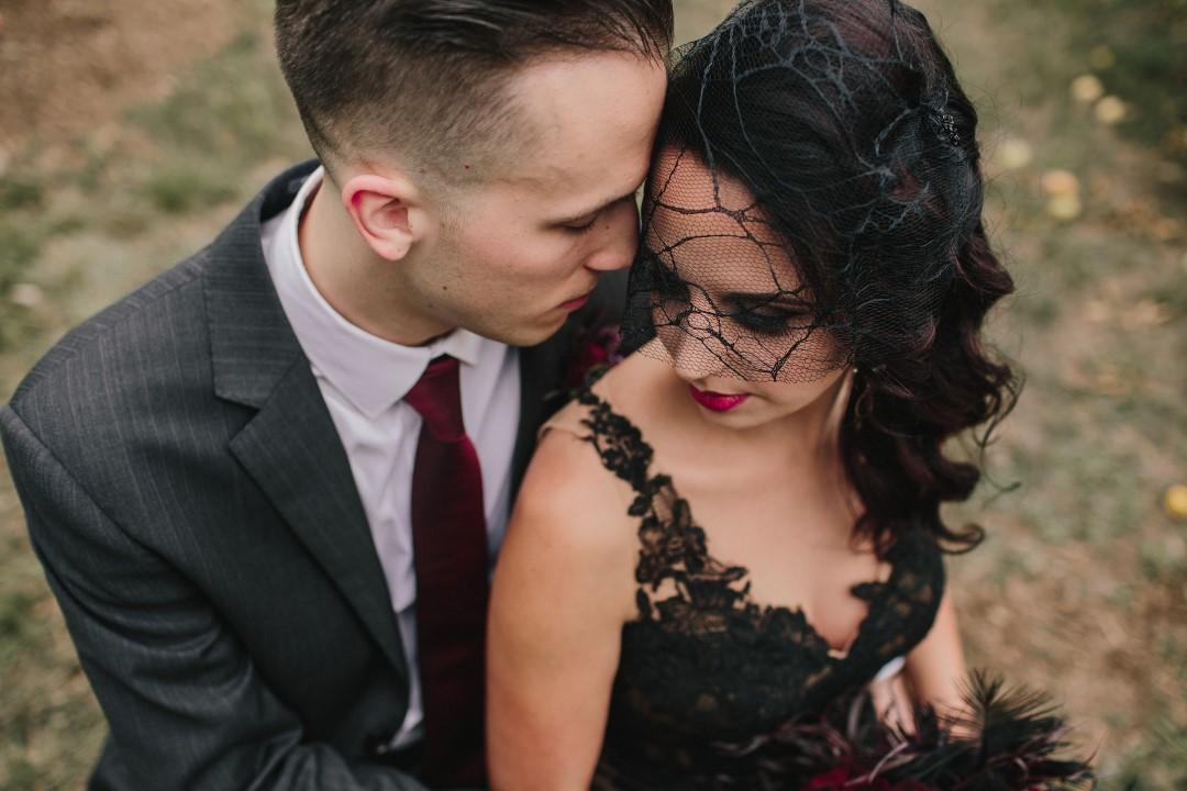 Black Veil on Bride Gothic Dark Elegance West Coast Weddings Magazine