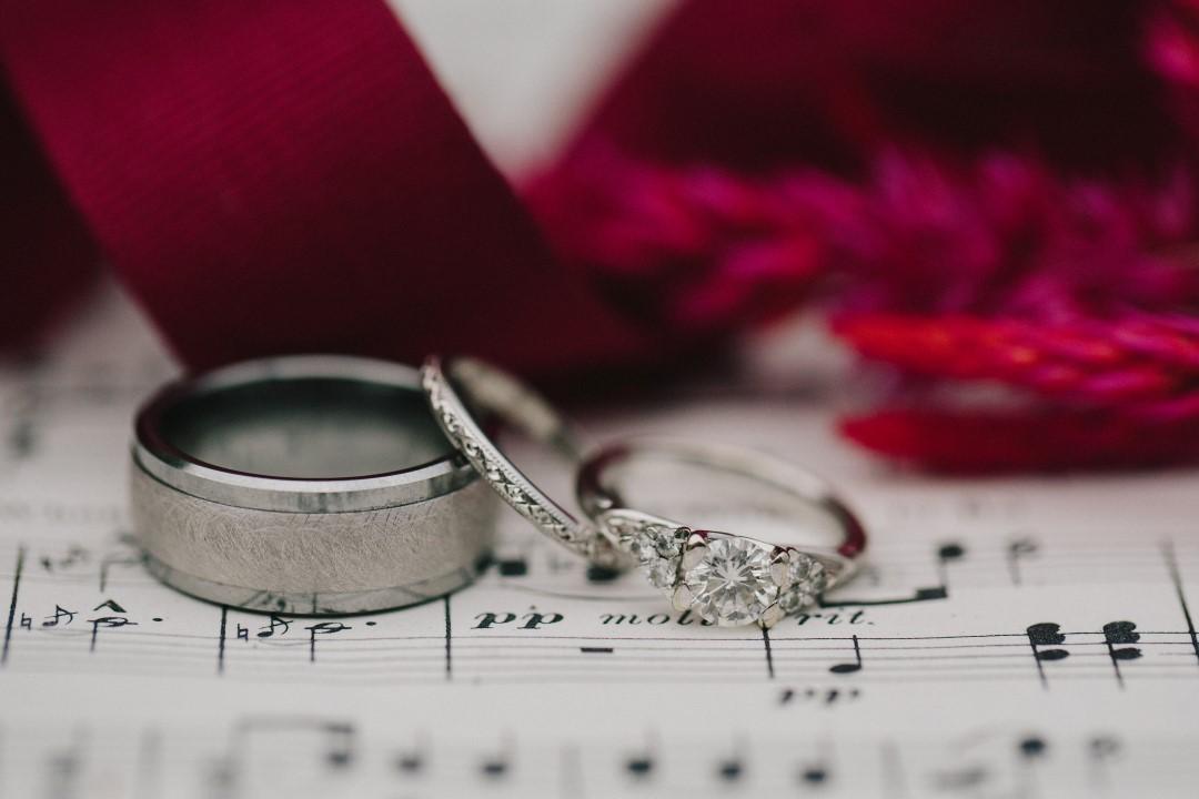 Rings Gothic Dark Elegance West Coast Weddings Magazine