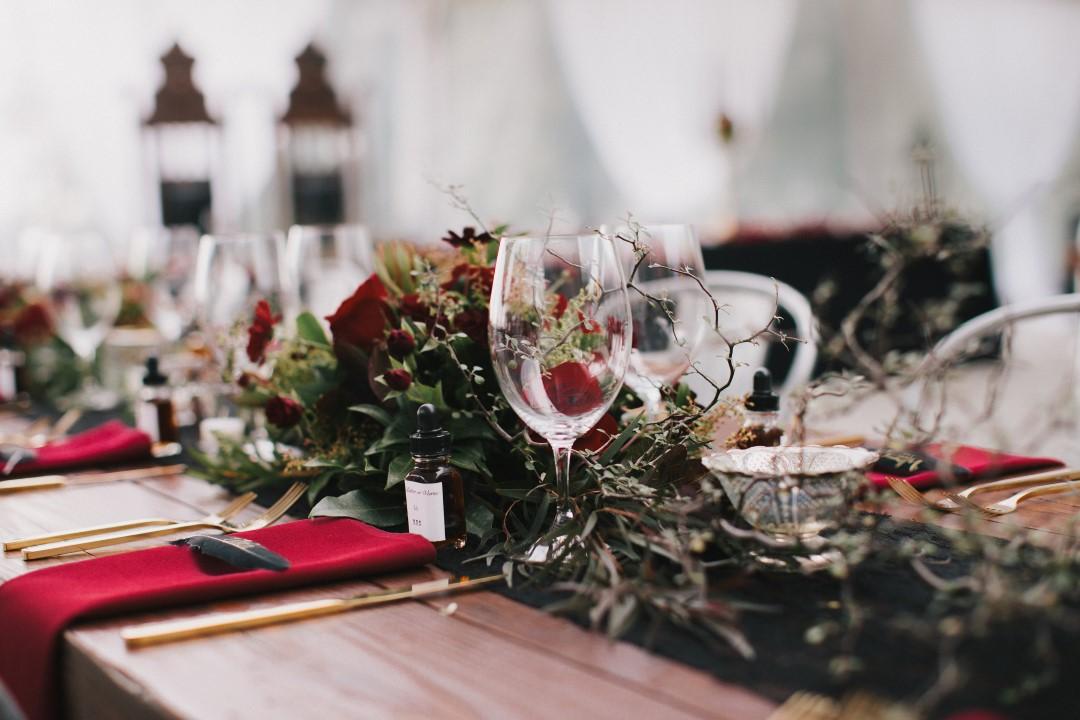 Vintage Table DecorGothic Dark Elegance West Coast Weddings Magazine