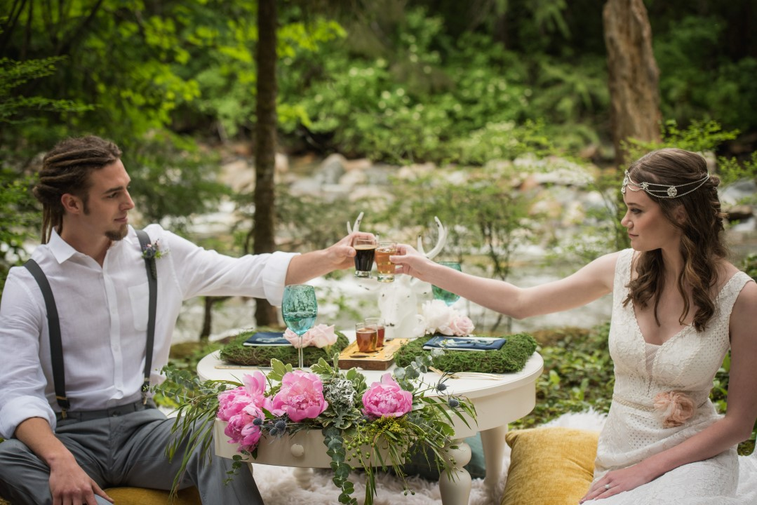 Sweetheart Table in Forest River Romance West Coast Weddings Magazine