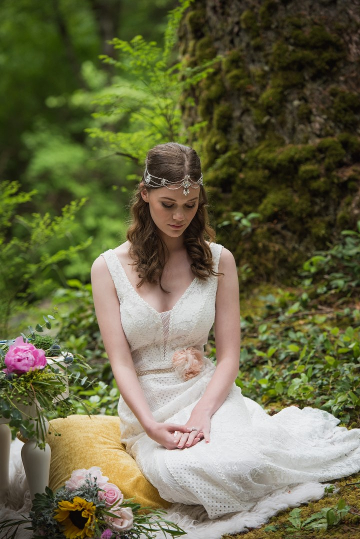 Boho Bride in Forest River Romance