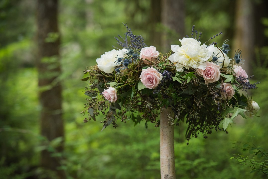 Floral Design in Forest Thrifty Foods River Romance West Coast Weddings Magazine