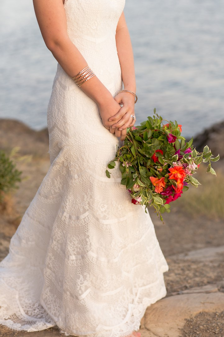bride carrying bouquet mexican inspiration West Coast Wedding Magazine
