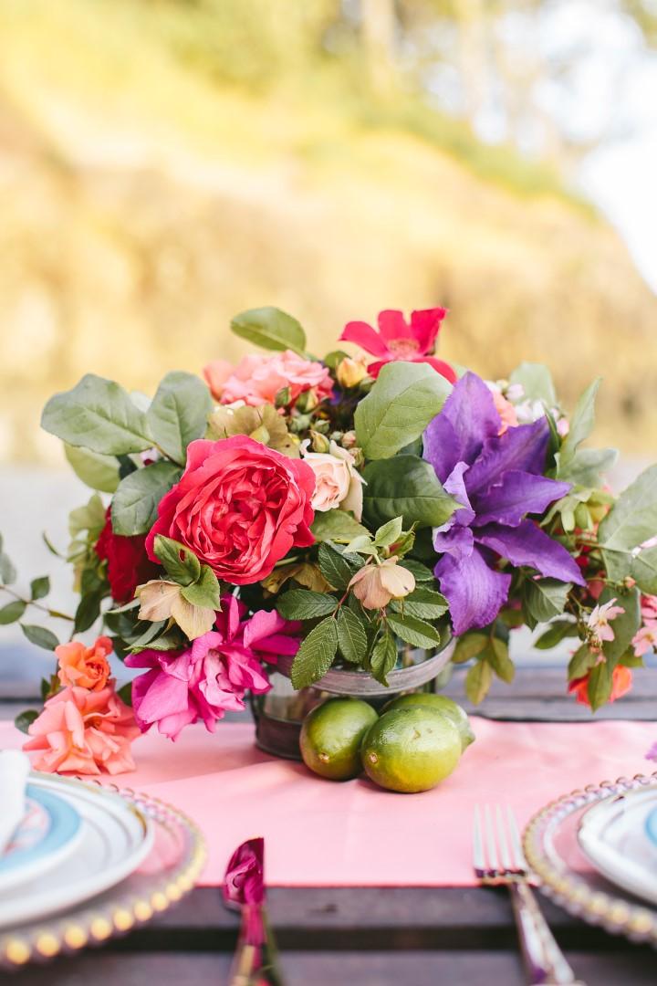 Floral Bouquet Mexican Inspiration West Coast Weddings Magazine