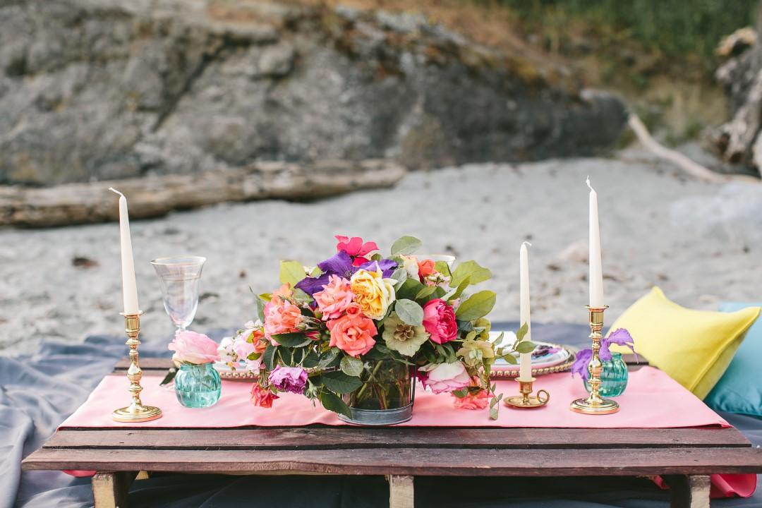 Mexican Inspired Beach Wedding Picnic Vancouver Island Wedding Magazine