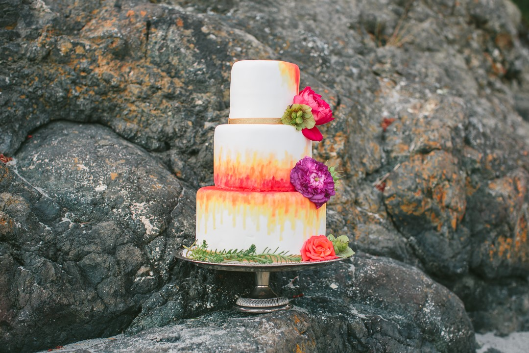 Mexican Inspired Wedding Cake Vancouver Island