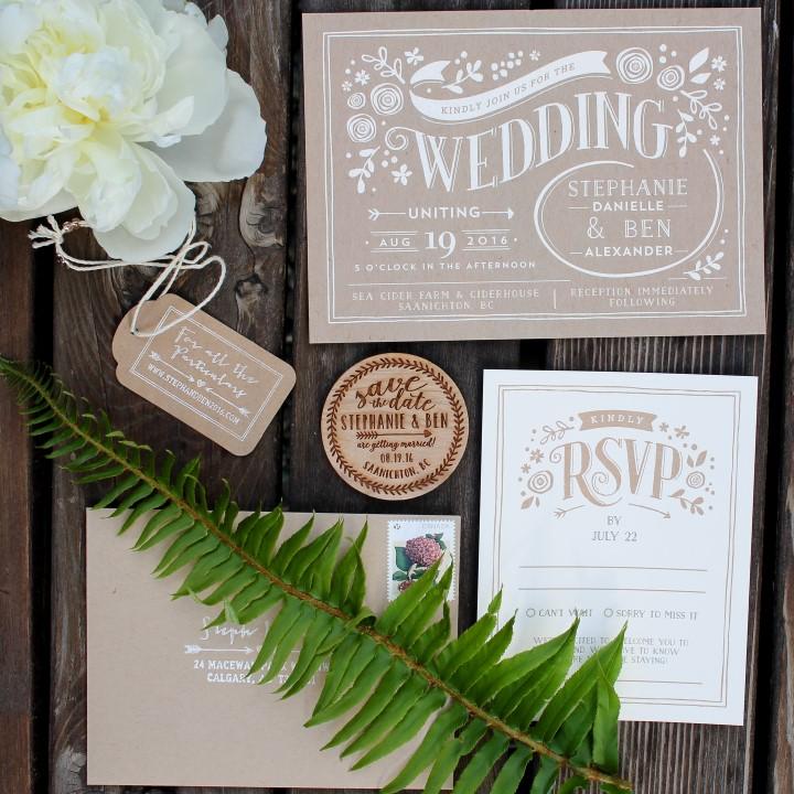 Invitation Suite Suns Golden Kiss West Coast Weddings Magazine