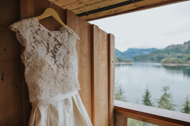 Bridal Gown Oceanview Marnie & Drew Eco Friendly Inspired Wedding by Jennifer Picard Photography