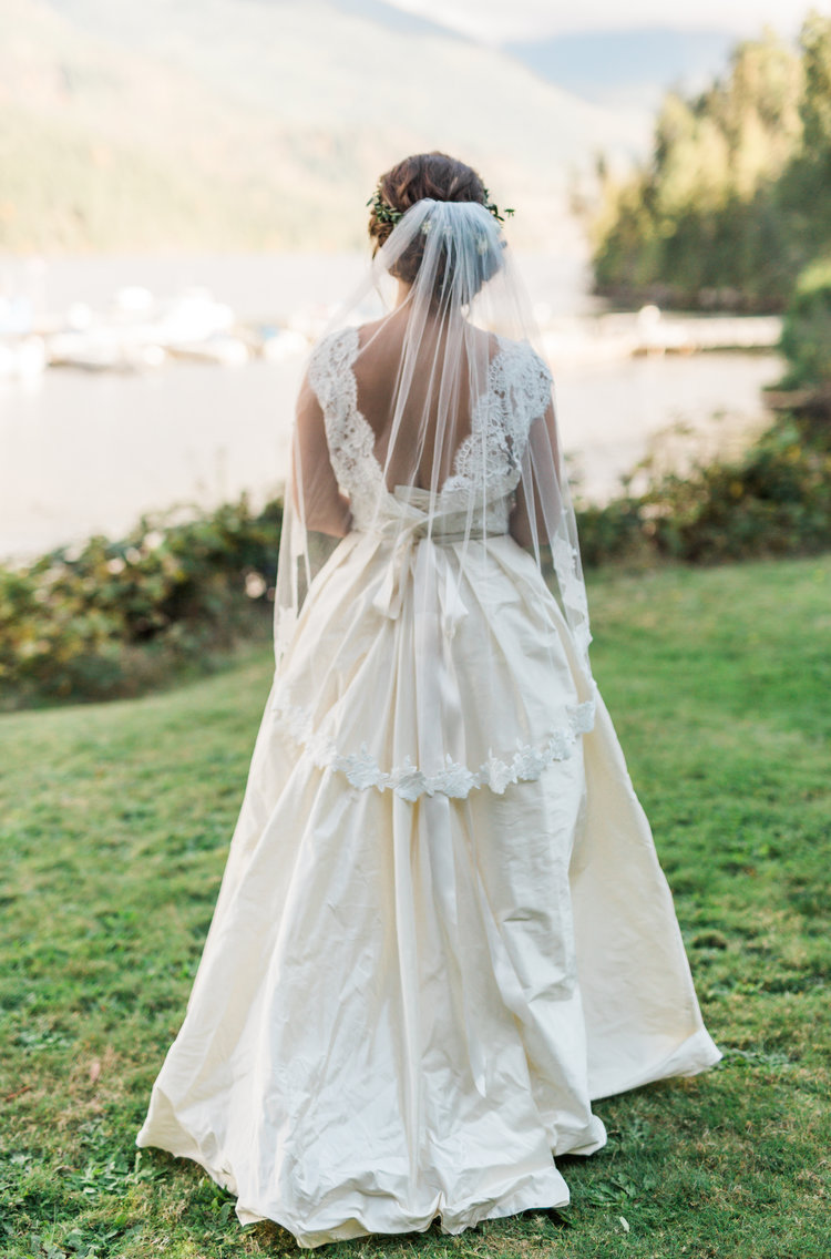 Bridal Gown with Train Marnie & Drew Eco Friendly Inspired Wedding by Jennifer Picard Photography